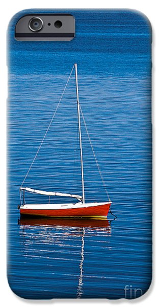 Cape Cod iPhone Cases - Small Sailboat iPhone Case by John Greim