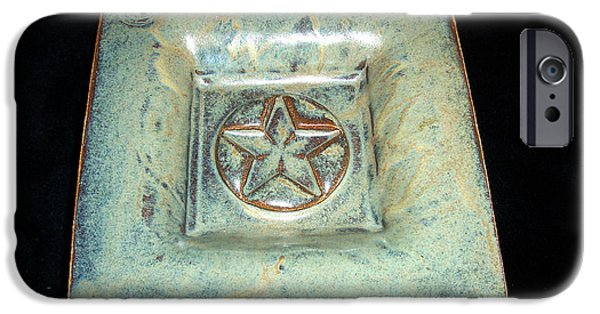 Square Ceramics iPhone Cases - Small Star Dish iPhone Case by Carolyn Coffey Wallace