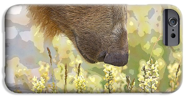 Abstract Digital Photographs iPhone Cases - Smelling the Flowers- Abstract iPhone Case by Tim Grams