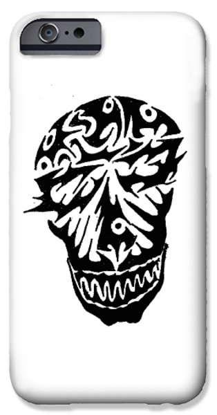Abstract Digital Drawings iPhone Cases - Smile iPhone Case by AR Teeter