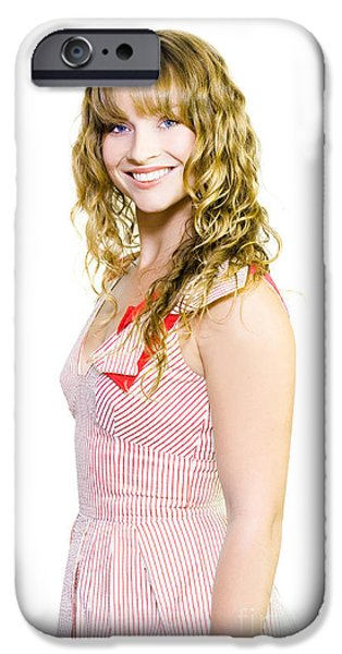 Youthful iPhone Cases - Smiling extrovert woman iPhone Case by Ryan Jorgensen