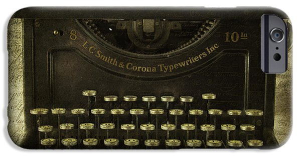 Typewriter Keys Photographs iPhone Cases - Smith And Corona Typewriter iPhone Case by Cindi Ressler