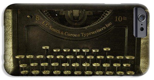Typewriter Keys iPhone Cases - Smith And Corona Typewriter iPhone Case by Cindi Ressler
