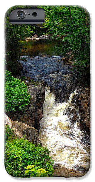 Ledge iPhone Cases - Smith River - Bristol N H iPhone Case by Mim White