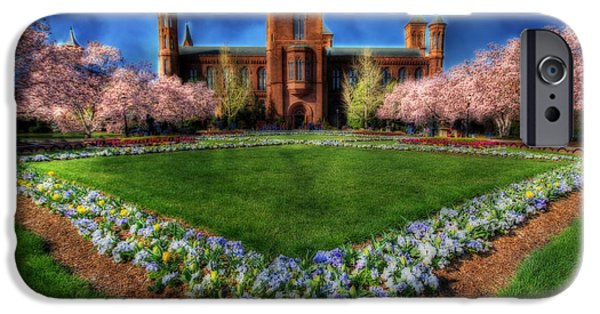 Smithsonian iPhone Cases - Smithsonian Castle Garden iPhone Case by Shelley Neff