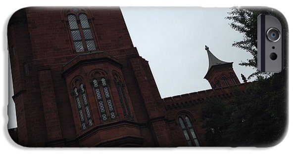 Smithsonian iPhone Cases - Smithsonian Castle iPhone Case by Jennifer Hinojosa