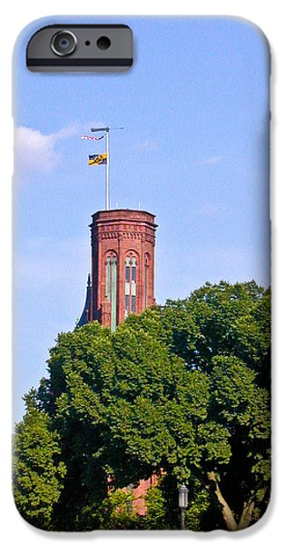 Smithsonian iPhone Cases - Smithsonian Castle Tower iPhone Case by Douglas Barnett