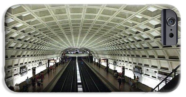 D.c. iPhone Cases - Smithsonian Metro Station iPhone Case by Jordan Kraft
