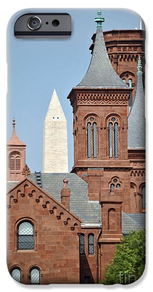 Smithsonian Museum iPhone Cases - Smithsonian Monument iPhone Case by Jost Houk