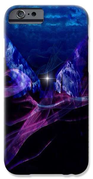 Abstract Digital iPhone Cases - Smoke and Mirrors iPhone Case by Majula Warmoth