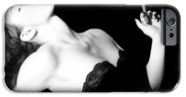 Self Portrait Photographs iPhone Cases - Smoke and Seduction - Self Portrait iPhone Case by Jaeda DeWalt