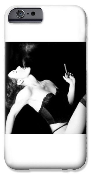 Smoke iPhone Cases - Smoke and Seduction - Self Portrait iPhone Case by Jaeda DeWalt