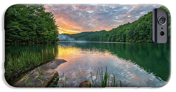 Reflecting Sunset iPhone Cases - Smoke on the Water... iPhone Case by Anthony Heflin