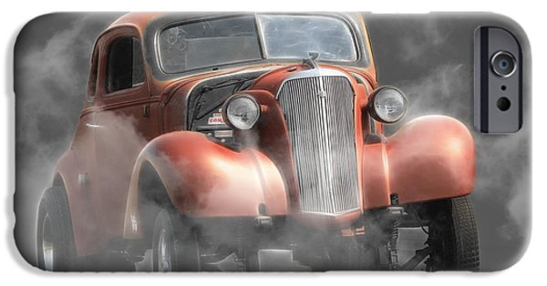 Racing iPhone Cases - Smoke Show iPhone Case by Steve McKinzie