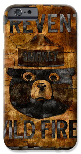 Wildfire iPhone Cases - Smokey The Bear - Only You Can Prevent Wild Fires iPhone Case by John Stephens