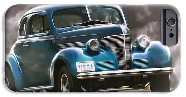 Racing iPhone Cases - Smokin 39 Gasser  iPhone Case by Steve McKinzie