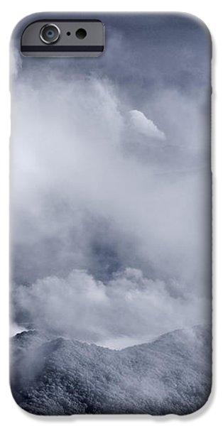 Smoky Mountain Vista In B and W iPhone Case by Steve Gadomski