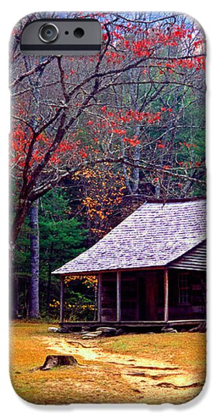 Smoky Mtn. Cabin iPhone Case by Paul W Faust -  Impressions of Light