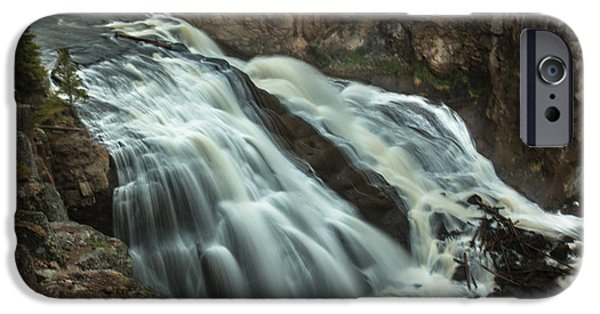 Silk Water iPhone Cases - Smooth Water Of Gibbon Falls iPhone Case by Robert Bales