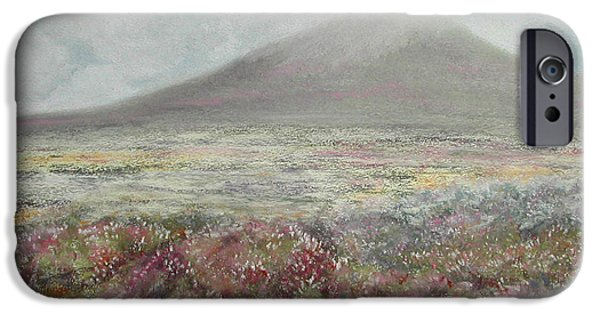 Autumn Landscape Pastels iPhone Cases - Snaefell Heather iPhone Case by Stanza Widen