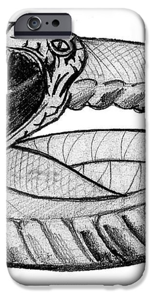 Snake iPhone Case by John Keaton