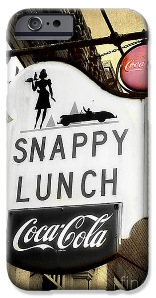 Andy Griffith iPhone Cases - Snappy Lunch iPhone Case by Michael Eingle