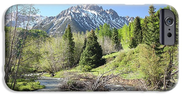 West Fork iPhone Cases - Sneffels in Springtime iPhone Case by Eric Glaser