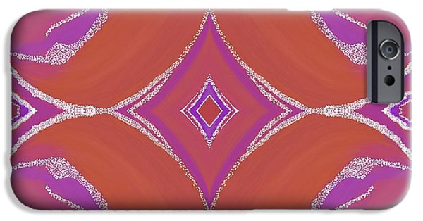 Abstract Digital Tapestries - Textiles iPhone Cases - Sno Capped Dreamings iPhone Case by Suzi Freeman