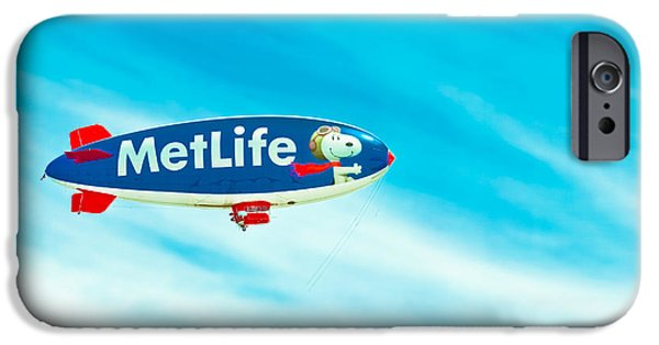 Helium iPhone Cases - Snoopy in the Sky iPhone Case by Colleen Kammerer