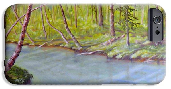 Little iPhone Cases - Snootli Creek iPhone Case by Ida Eriksen