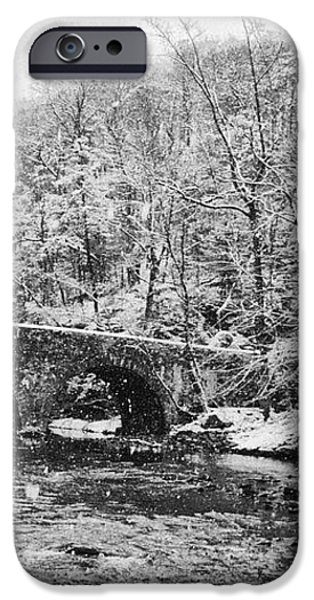 Snow Along the Wissahickon Creek iPhone Case by Bill Cannon
