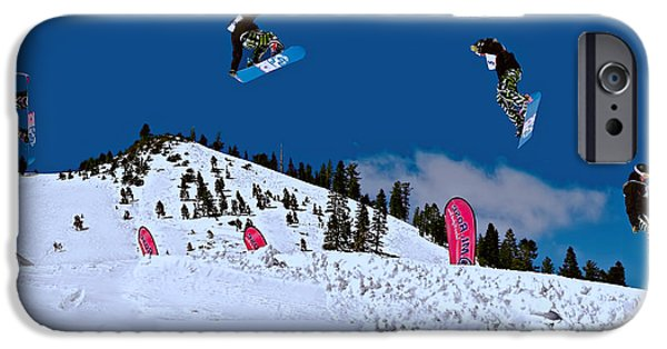 Recently Sold -  - Norway iPhone Cases - Snow Boarder iPhone Case by Maria Coulson