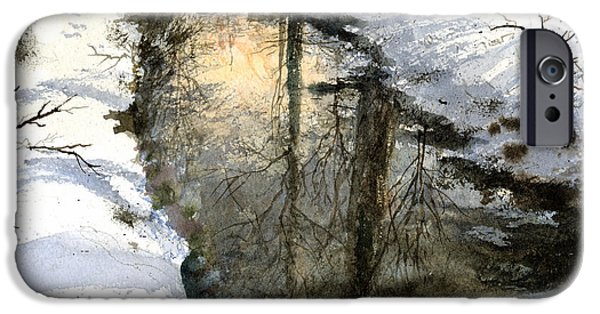 Creek iPhone Cases - Snow Creek iPhone Case by Andrew King