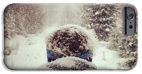 Snow iPhone Cases - Snow Day iPhone Case by Noelle  Short