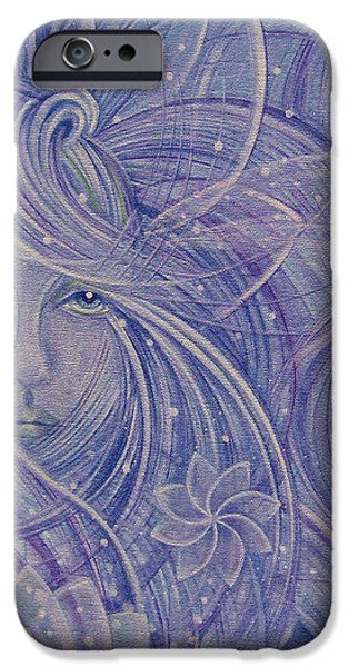 Winter Mixed Media iPhone Cases - Snow Flower iPhone Case by Caroline Czelatko