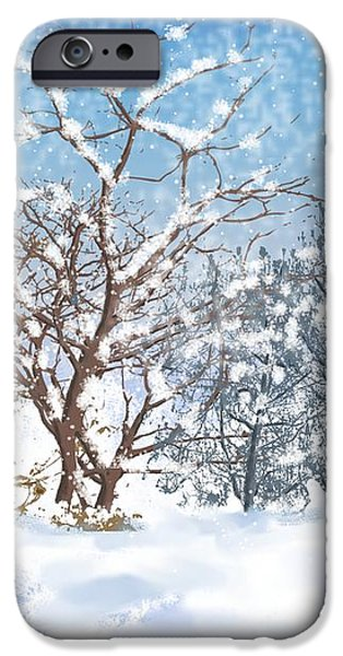 Snow Flurry iPhone Case by Arline Wagner