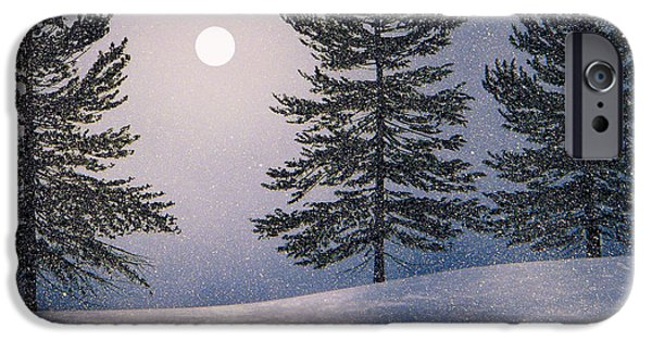 Snowscape Paintings iPhone Cases - Snow Light iPhone Case by Frank Wilson