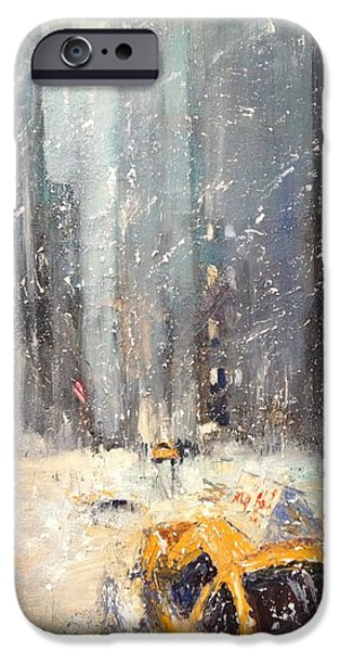 Winter Storm iPhone Cases - Snow Snow Snow... iPhone Case by NatikArt Creations