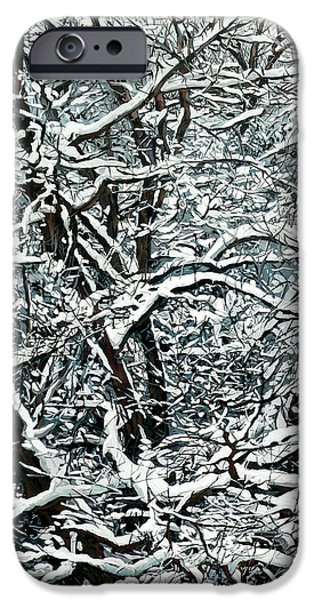 Nadi Spencer iPhone Cases - Snow Tree iPhone Case by Nadi Spencer