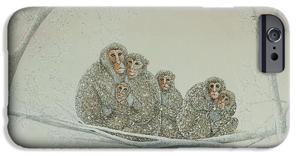 Ape iPhone Cases - Snowed under iPhone Case by Pat Scott