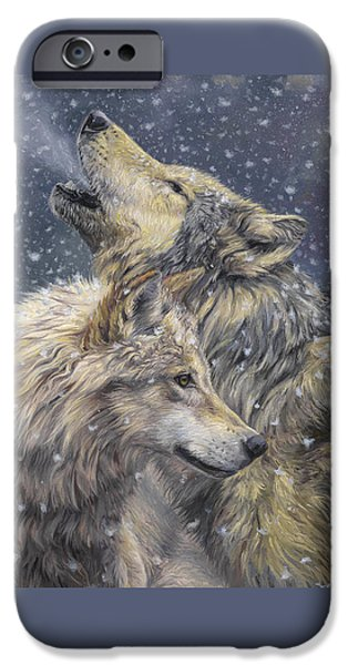Snow iPhone Cases - Snowfall iPhone Case by Lucie Bilodeau