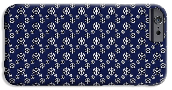 Nature Abstracts iPhone Cases - Snowing on Christmas Eve iPhone Case by Lena Kouneva