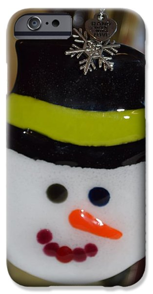 Snow Glass iPhone Cases - Snowman iPhone Case by Rosalind Duffy