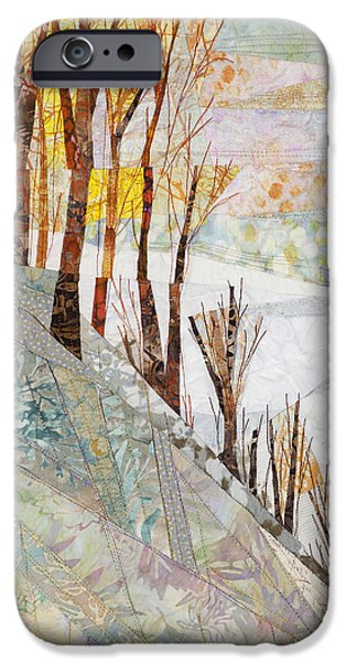 Snow Tapestries - Textiles iPhone Cases - Snowy Dawn iPhone Case by Linda Beach
