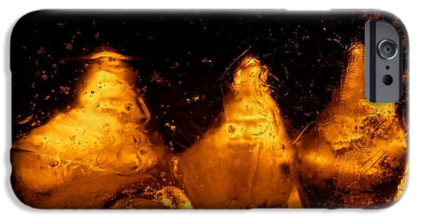 Snowy Night Digital iPhone Cases - Snowy Ice Bottles iPhone Case by Sami Tiainen