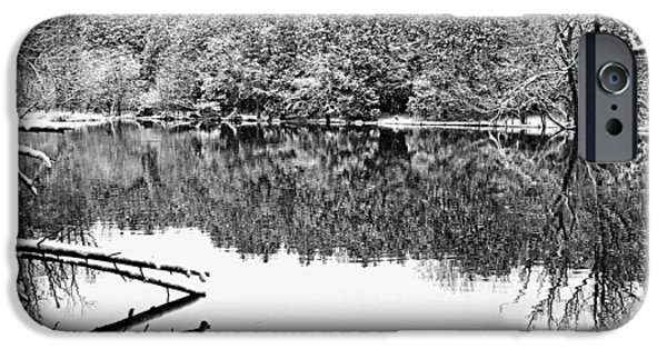 Snowy Day iPhone Cases - Snowy River iPhone Case by Debbie Oppermann