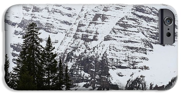 Snow iPhone Cases - Snowy Striations iPhone Case by Eric Glaser