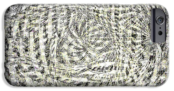 Abstract Digital Paintings iPhone Cases - So and So iPhone Case by Eugene Miller