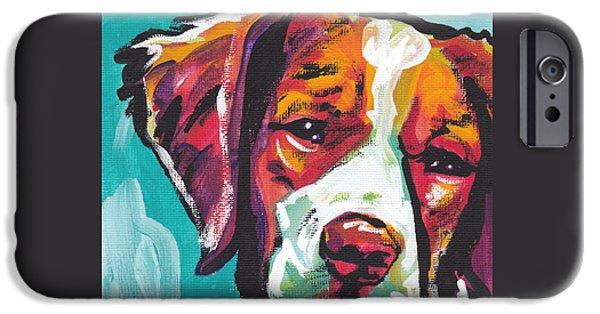 Spaniel Puppy iPhone Cases - So Britt iPhone Case by Lea