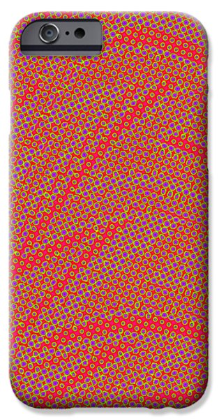 Abstract Digital Tapestries - Textiles iPhone Cases - So Dizzy iPhone Case by Suzi Freeman